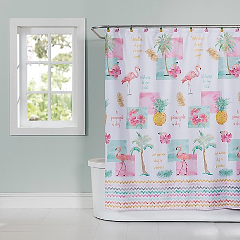 Flamingo Fever Shower Curtain Bed Bath Beyond