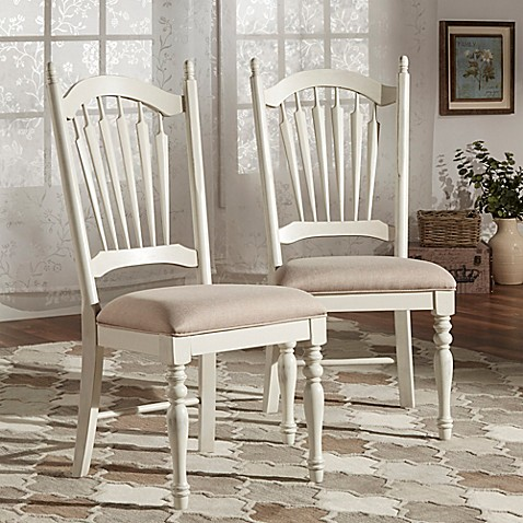 Verona Home Chantilly Lane Dining Chairs in White (Set of 2) | Tuggl