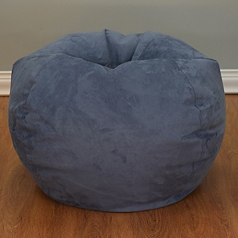 large microsuede bean bag chair bed bath beyond. Black Bedroom Furniture Sets. Home Design Ideas