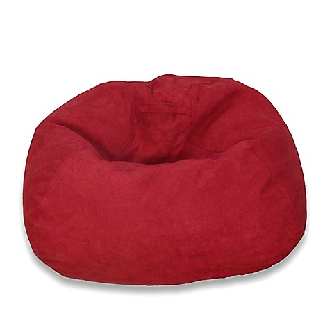 Buy Large Microsuede Bean Bag Chair In Red From Bed Bath
