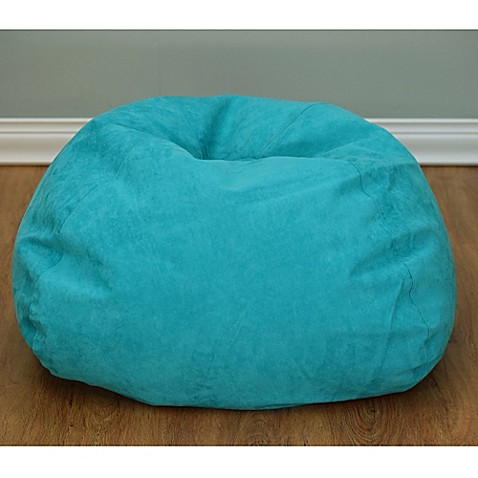 Buy Large Microsuede Bean Bag Chair In Turquoise From Bed