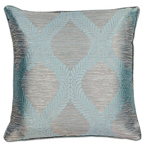 Buy Kas? Elegance 20-Inch Square Throw Pillow in Grey/Blue from Bed Bath & Beyond