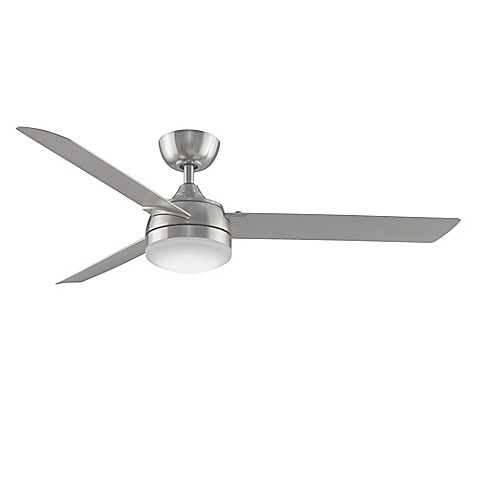 Fanimation Xeno 56 Inch Single Light Ceiling Fan In Brushed Nickel With Remote Control by Bed Bath And Beyond