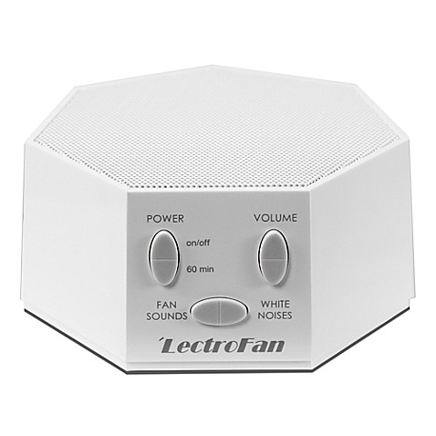 Lectrofan sound therapy machine in white bed bath beyond for Bathroom noise maker