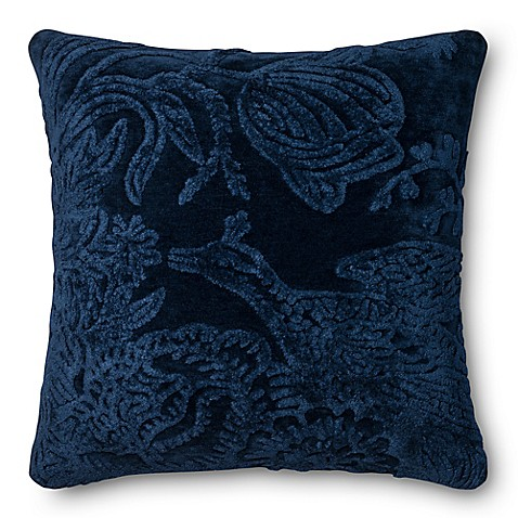 Loloi Rich Viscose Square Throw Pillow in Indigo at Bed Bath & Beyond in Cypress, TX | Tuggl