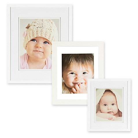 Real Simple® Wood Portrait Frame with Double-Bevel Float Mat in White at Bed Bath & Beyond in Cypress, TX | Tuggl