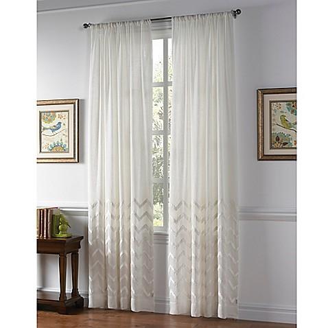 Callisto Home Almada Rod Pocket Sheer Window Curtain Panel In White Bed Bath Beyond