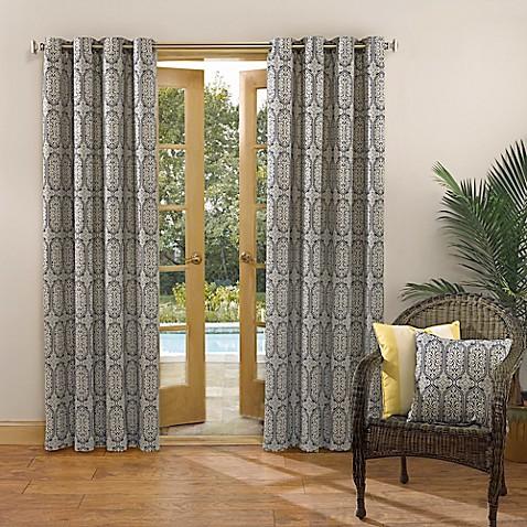Sun Zero Carey Grommet Top Indoor Outdoor Window Curtain Panel Bed Bath Beyond