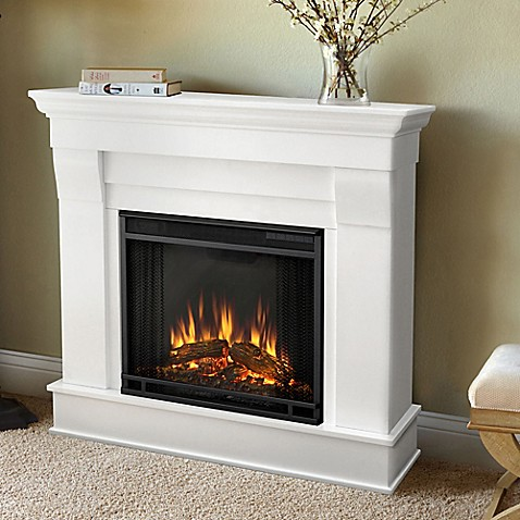Buy Real Flame Chateau Electric Fireplace In White From Bed Bath Beyond