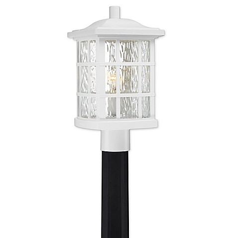 quoizel stonington gu24 base 1 light post mount outdoor. Black Bedroom Furniture Sets. Home Design Ideas