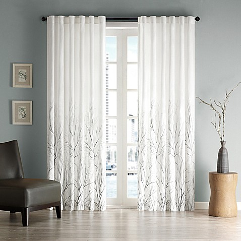Madison Park Andora Rod Pocket/Back Tab Lined Window Curtain Panel and Valance at Bed Bath & Beyond in Cypress, TX | Tuggl