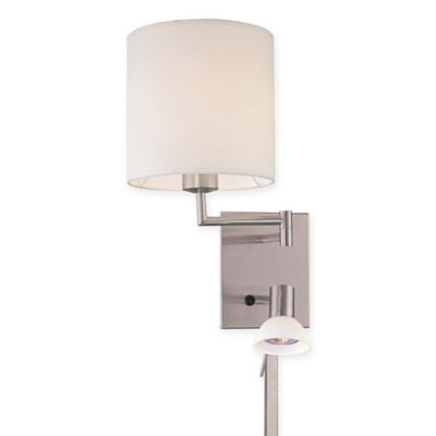 Wall Sconces Bed Bath Beyond : George Kovacs 1-Light Wall Sconce in Brushed Nickel with Glass Shade - Bed Bath & Beyond
