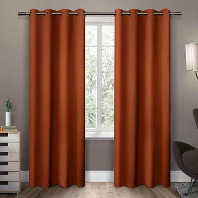 Exclusive Home Sateen Room Darkening Grommet Top Window