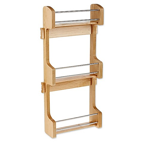 buy rev a shelf small cabinet door mount wood 3 shelf. Black Bedroom Furniture Sets. Home Design Ideas