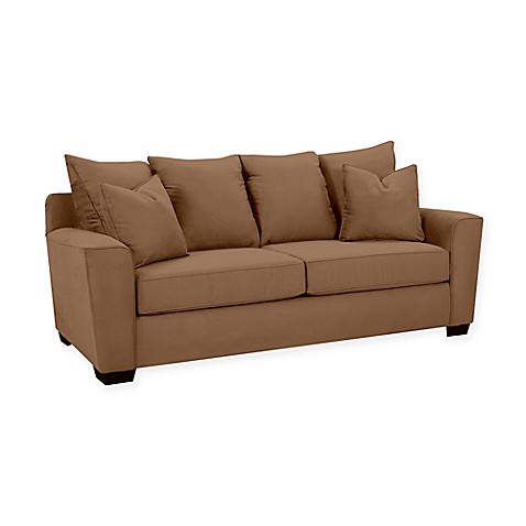 Buy Klaussner Heather Polyester Sofa In Chocolate From