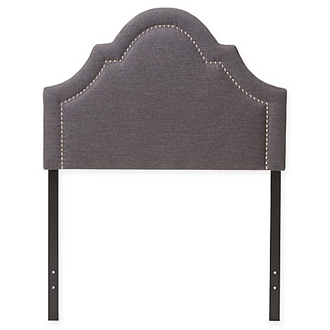 Rita Upholstered Button Tufted Scalloped Twin Headboard Bed Bath