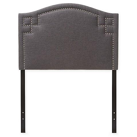 Aubrey Fabric Upholstered Headboard Dark Gray Full