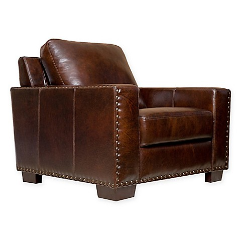 Abbyson Living® Beverly Leather Arm Chair at Bed Bath & Beyond in Cypress, TX | Tuggl