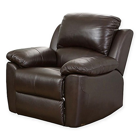 Buy abbyson living westwood leather recliner from bed bath for Abbyson living sedona leather chaise recliner