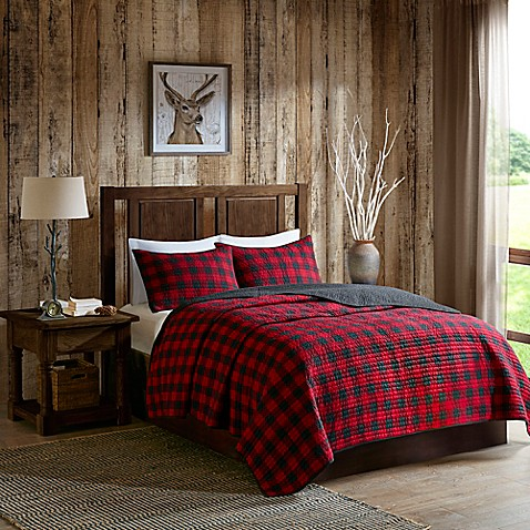 Woolrich® Check Reversible Quilt Set in Red/Black at Bed Bath & Beyond in Cypress, TX | Tuggl