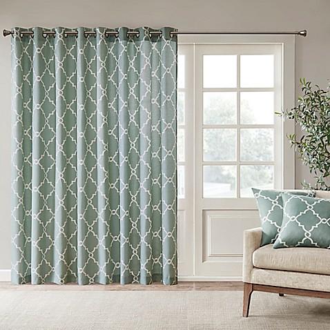 madison park saratoga 84 inch grommet top patio door window curtain panel bed bath beyond. Black Bedroom Furniture Sets. Home Design Ideas