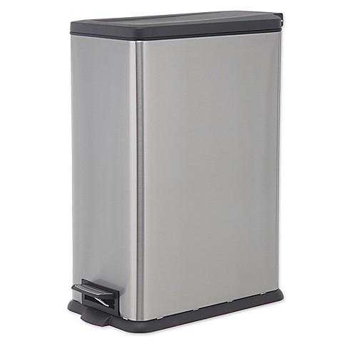 SALT™ 45 Liter Rectangular Slim Step Trash Can