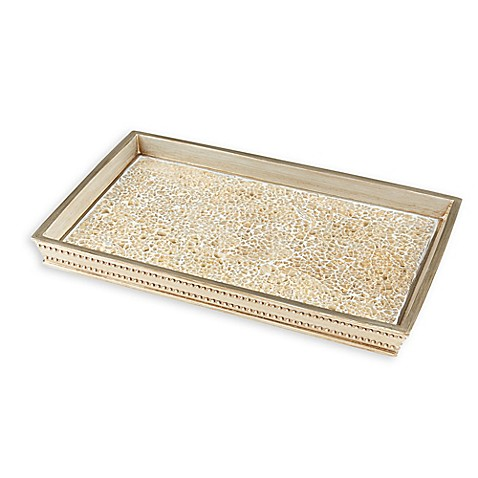 Gold crackle mosaic vanity tray bed bath beyond - Bed bath and beyond bathroom vanity ...