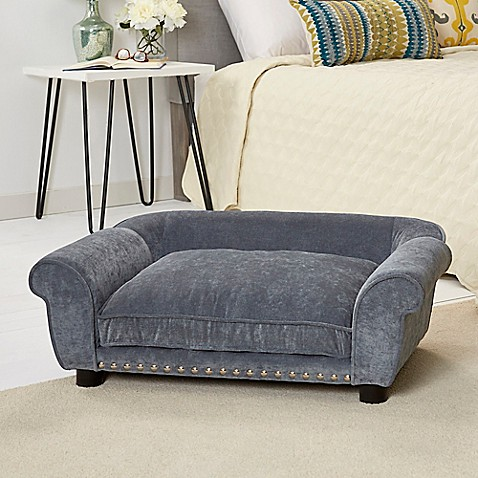 Buy Enchanted Home Velvet Pet Dreamcatcher Sofa In Grey