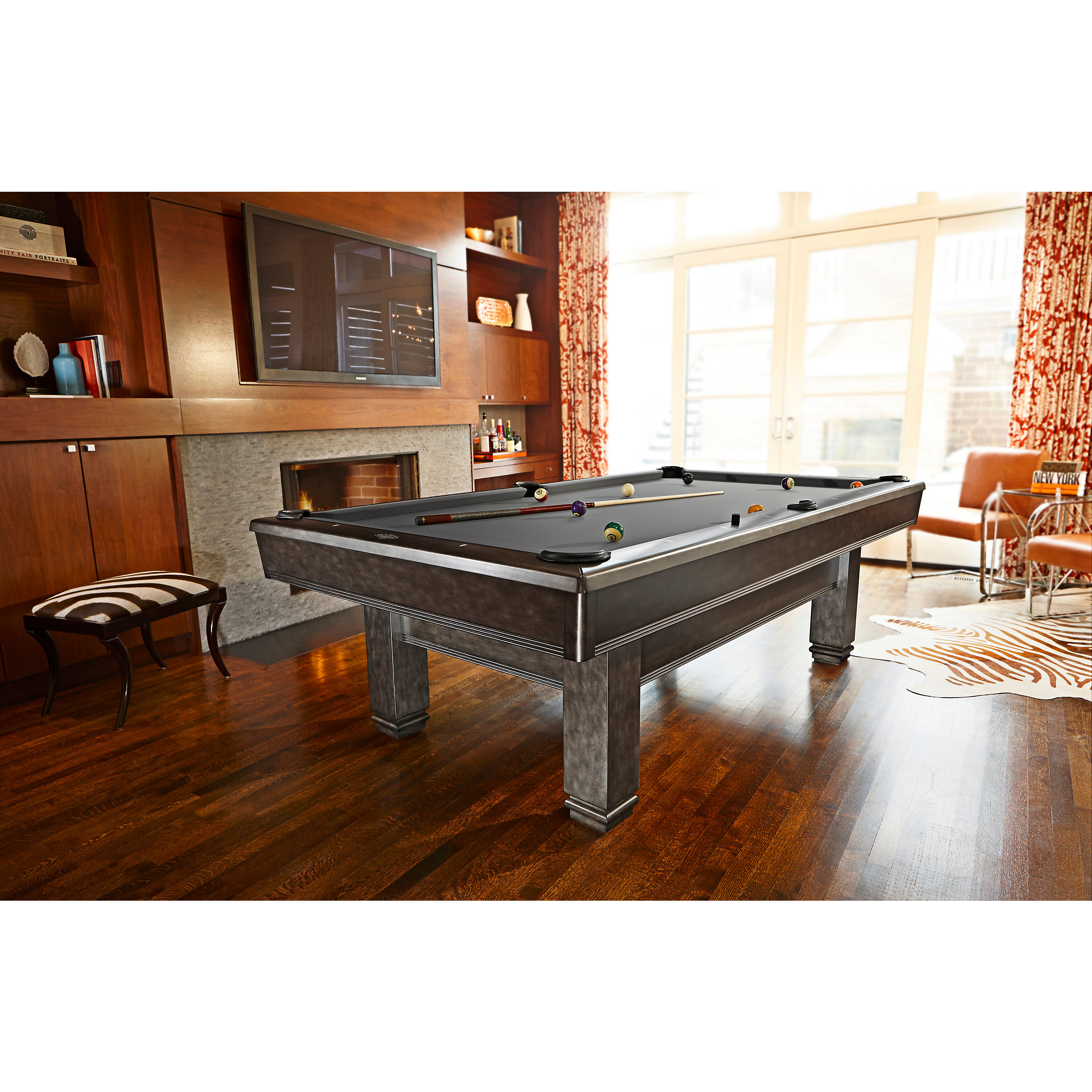 Bridgeport transitional pool table in graphite finish site by one dog media geotapseo Choice Image