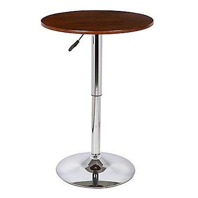 Delicieux Bentley Pub Table In Walnut Wood And Chrome Finish