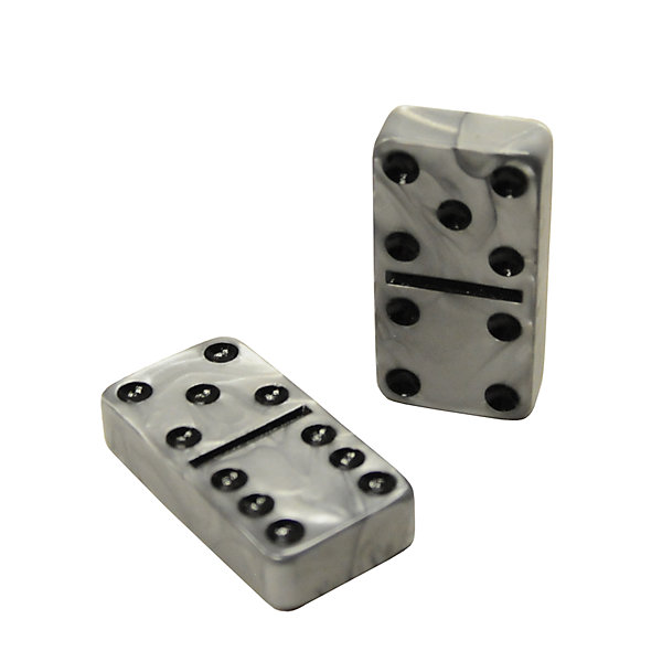Silver Dominoes Double 6 Dominoes Billiard Factory