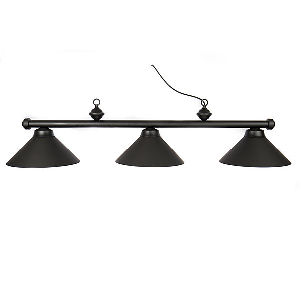 Pool Table Light Black: Metal Shade Pool Table Light
