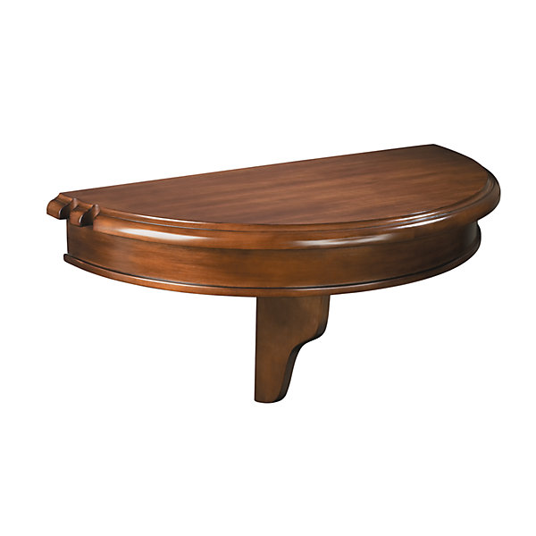 Colonial half round pub shelf
