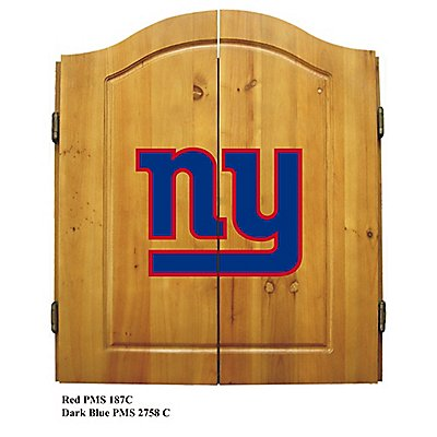 New York Giants Dart Cabinet Set W Darts And Flights