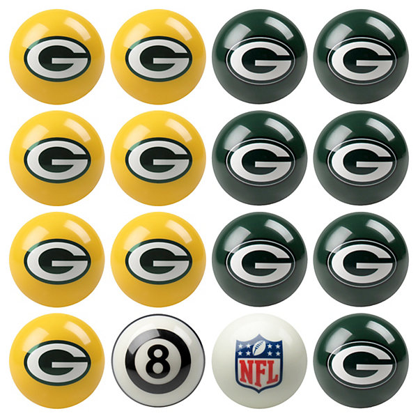 green bay packers pool ball set