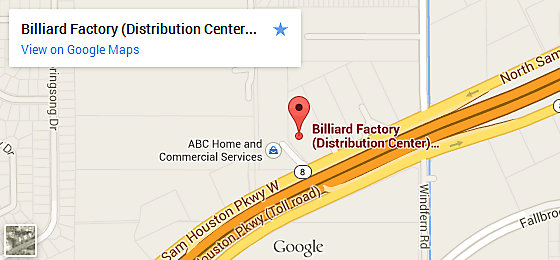 Billiard Factory Houston - Corporate Offices & Distribution Center