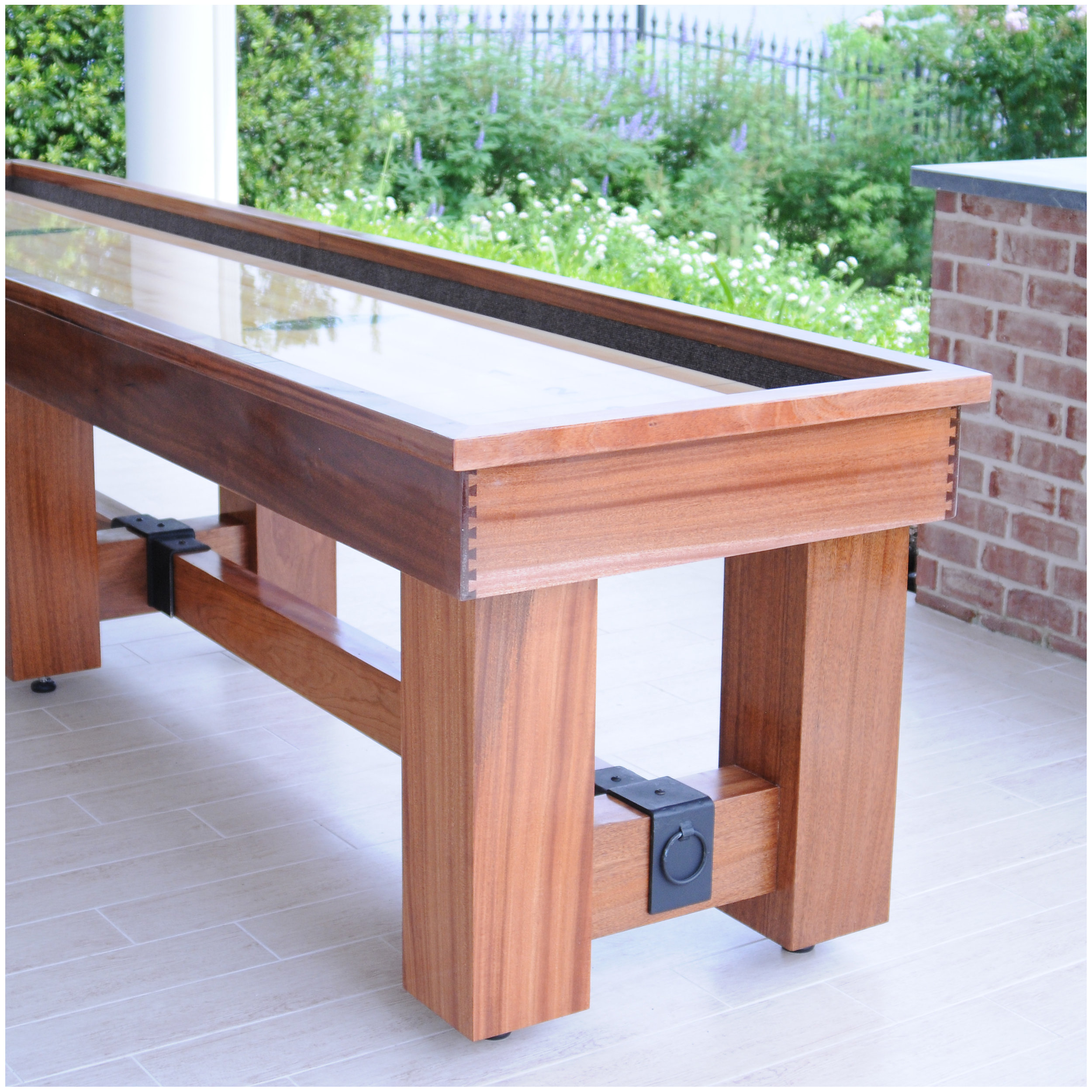 crow product industrial table furniture perspective works office reclaimed shuffleboard oak