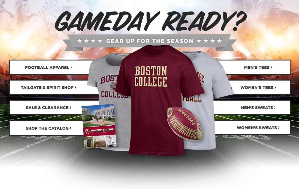 GameDay Ready?  Gear Up For The Season.  Shop Football Apparel. Shop Men's Tees.  Shop Tailgate & Spirit Shop.  Shop Women's Tees.  Shop Sideline.  Shop Men's Sweats.  Shop Sale & Clearance.  Shop Women's Sweats.