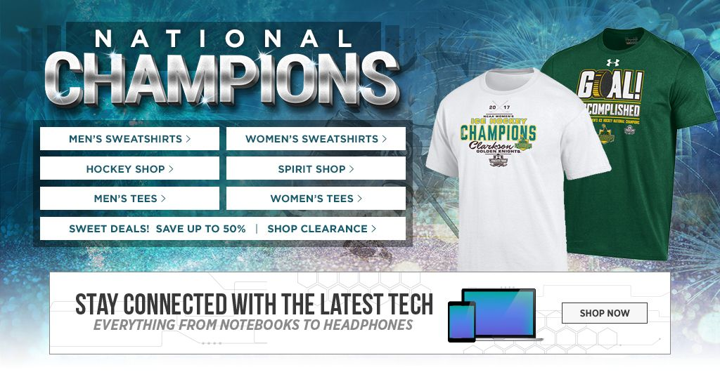 Women's National Champions. Men's Tees, Shop Now. Women's Tees, Shop Now. Men's Sweats, Shop Now. Women's Sweats, Shop Now.  Hockey Shop. Shop Now. Spirit Shop. Shop Now. Jerseys, Shop Now. Auto Accessories, Shop Now.