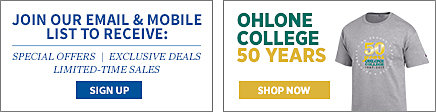 Join our email and mobile list to receive: special offers, exclusive deals, limited-time sales. Sign up. Ohlone College 50 Years. Shop Now.