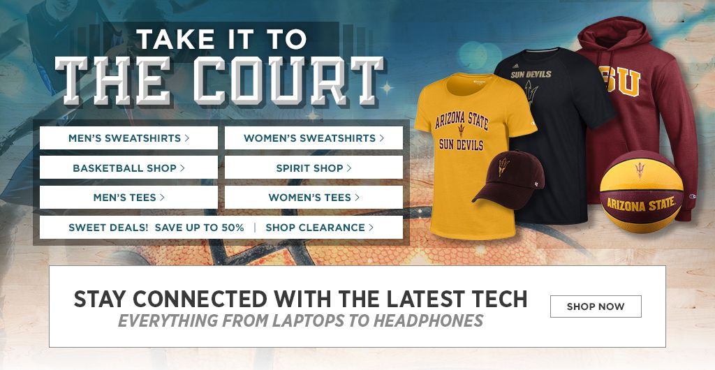 Take It To The Court. Men's Tees, Shop Now. Women's Tees, Shop Now. Men's Sweats, Shop Now. Women's Sweats, Shop Now.  Basketball Shop. Shop Now. Spirit Shop. Shop Now. Jerseys, Shop Now. Auto Accessories, Shop Now. 25% off Clearance, Shop Now.