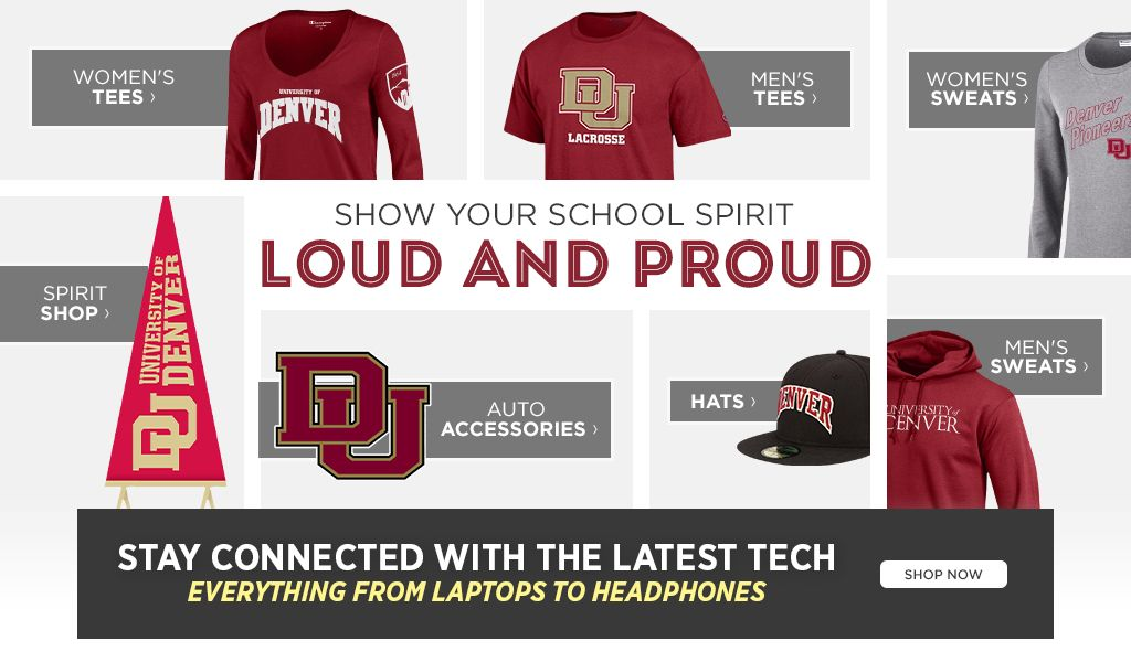 Show your school spirit loud and proud.  Shop Women's Tees. Shop Men's Tees. Shop Backpacks and Bags. Shop Hats.  Shop Accessories.