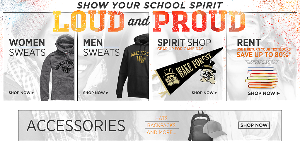 Loud and Proud. Womens Sweatshirts. Shop now. Mens Sweatshirts. Shop now. Spirit Shop.  Shop now. Textbooks Rental. Shop now. Accessories. Hats, Backpacks and More. Shop Now.