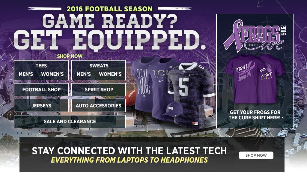 Welcome to your new TCU online store.