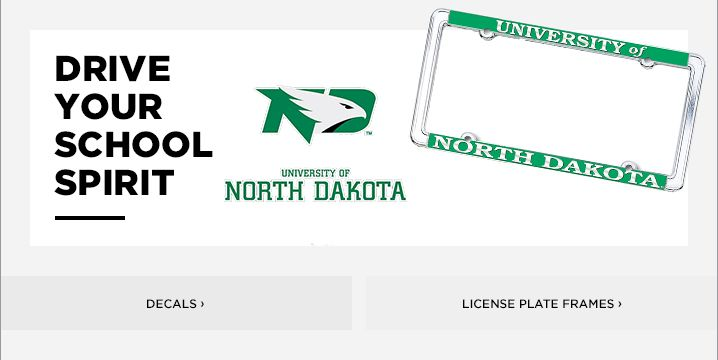 University of North Dakota License Plate Frames, Car Decals, and ...