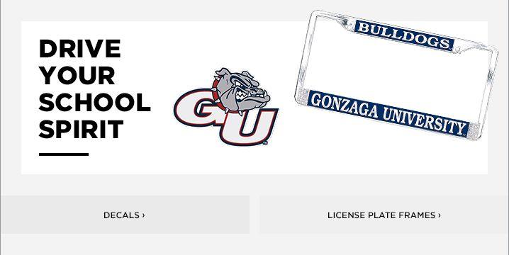 Gonzaga License Plate Frame | Zags Decals & Car Mats