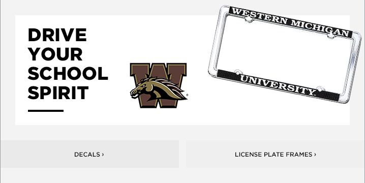 Western Michigan University License Plate Frames, Car Decals, and ...