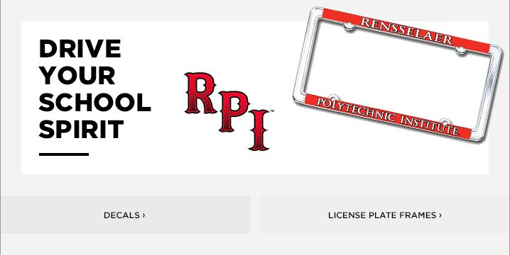 Rensselaer Polytechnic Institute License Plate Frames, Car Decals ...