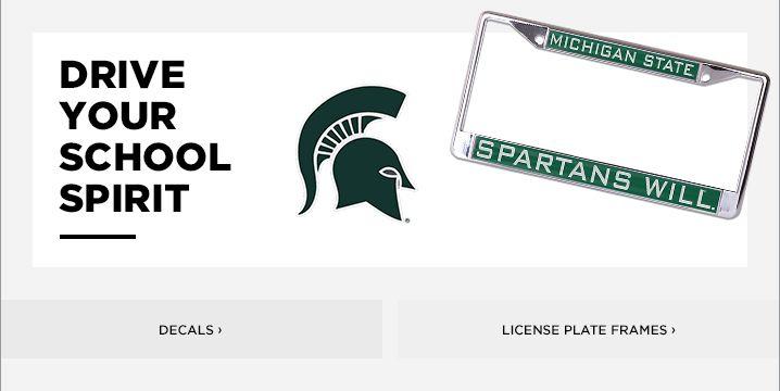 Michigan State License Plate Frame | MSU Decals & Car Mats