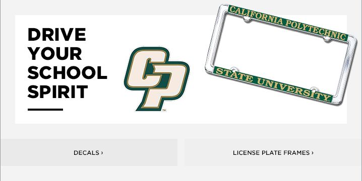 Cal Poly License Plate Frames, Car Decals, and Stickers